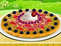 Флеш игра Укрась фруктовую пиццу