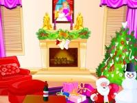 Флеш игра Укрась комнату на Новый Год