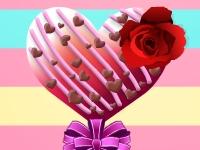 Флеш игра Укрась конфеты на день Святого Валентина