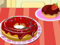 Флеш игра Укрась сладкие пончики