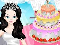 Флеш игра Укрась свадебный торт