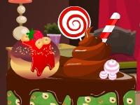Флеш игра Украшаем шоколадный торт