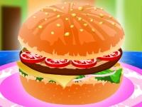 Флеш игра Украшение гамбургера