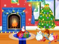 Флеш игра Украшение гостинной на Рождество
