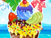 Флеш игра Украшение мороженого