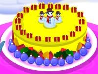 Флеш игра Украшение рождественского торта