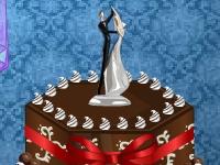 Флеш игра Украшение свадебного торта