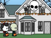 Флеш игра Украшение дома на Хэллоуин