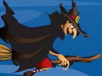 Флеш игра Ведьма, отстреливающая тыквы