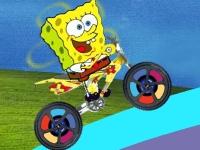 Флеш игра Веселый Спанч Боб на велосипеде