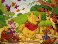 Флеш игра Винни Пух и его друзья: Пазл
