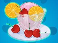 Флеш игра Вишневое ванильное мороженое