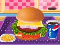 Флеш игра Вкусный гамбургер