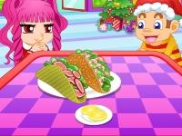 Флеш игра Вкусный тако с овощами