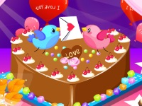 Флеш игра Вкусный торт на День Святого Валентина