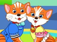 Флеш игра Влюбленные котята