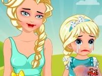 Флеш игра Вылечи царапины ребенка Эльзы