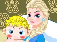 Флеш игра Вылечи ребенка Эльзы