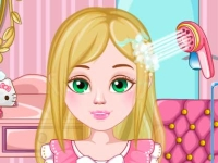 Флеш игра Выводим вшей у Барби