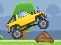 Флеш игра Забавный грузовик монстр