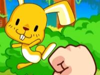 Флеш игра Забрось кролика в дупло