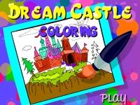 Флеш игра Замок мечты: Раскраска
