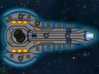 Флеш игра Защитный корабль в космосе