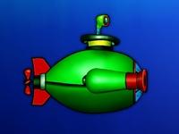 Флеш игра Зеленая подводная лодка