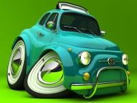 Флеш игра Зеленое авто в итальянском стиле: Пазл
