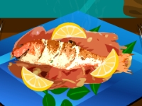 Флеш игра Жареная рыба с лимоном