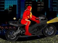 Флеш игра Железный человек: Гонка на мотоцикле