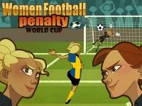 Флеш игра Женский футбол: Пенальти