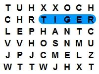 Флеш игра Животные: Поиск слов