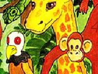 Флеш игра Животные из джунглей