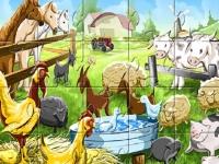 Флеш игра Животные на ферме: Пазл