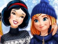 Флеш игра Зимние развлечения принцесс