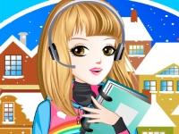 Флеш игра Зимний наряд для школы