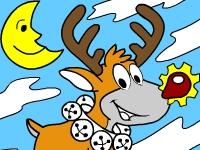 Флеш игра Зимняя книга для раскрашивания