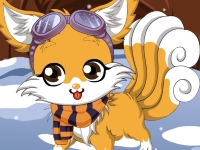 Флеш игра Зимняя лисичка