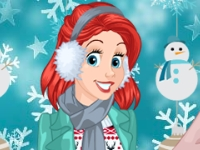 Флеш игра Зимняя прогулка трех принцесс