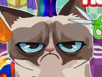 Флеш игра Злой кот: Делаем прическу