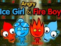 Флеш игра Злые мальчик огонь и девочка вода