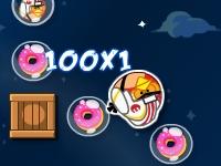 Флеш игра Злые птички: Космические пончики