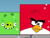 Флеш игра Злые птички: выгони зелёных свиней