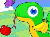 Флеш игра Змейка и фрукты
