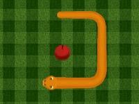 Флеш игра Змейка и красные яблоки