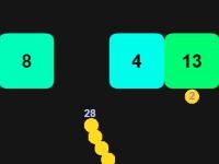 Флеш игра Змейка против блоков