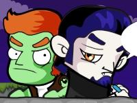Флеш игра Зомби против вампиров