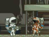 Флеш игра Зомби в космосе