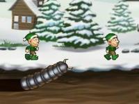 Флеш игра Зверский червяк: Рождество